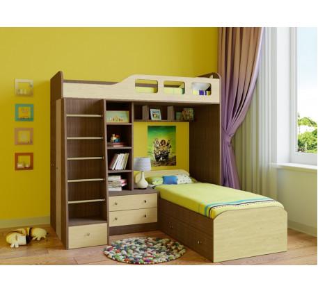 Двухъярусная кровать для детей Астра-4, спальные места 195х80 см