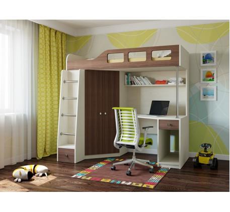 Кровать-чердак для подростка Астра-7, спальное место 195х80 см