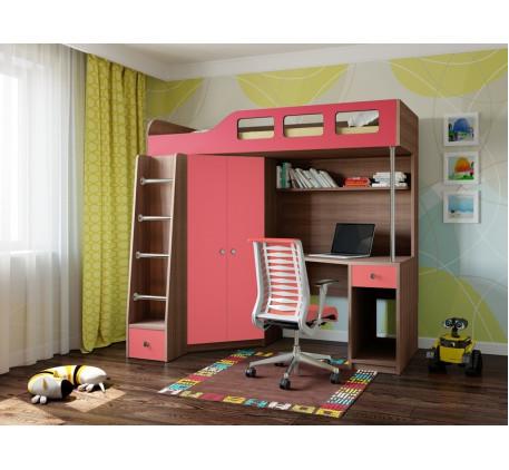 Кровать-чердак для ребёнка Астра-7, спальное место 195х80 см