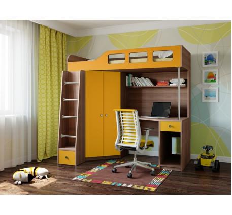 Кровать-чердак подростковая Астра-7, спальное место 195х80 см