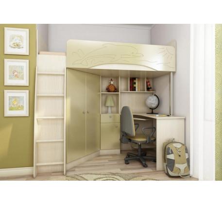 Кровать-чердак Бэмби-4, спальное место 200х90 см