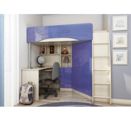 Кровать-чердак для мальчика Бэмби-4, спальное место 200х90 см