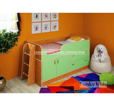 Мини кровать-чердак Фанки Кидз-9 +лестница 13/54, спальное место 160х70 см