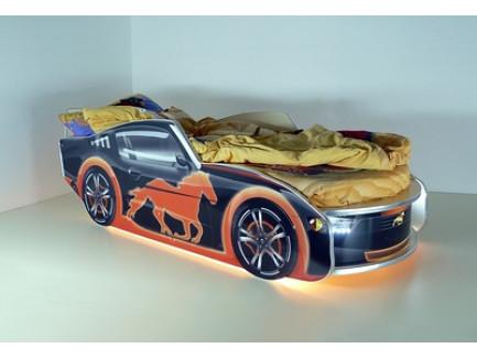 Кровать Мустанг, кровать-машина Mustang (детская кровать фабрики «Vivera»)