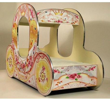 Кровать-карета детская для девочки Золушка (Vivera)