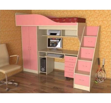 Кровать Квартет-1 для девочки, спальное место 190х80 см