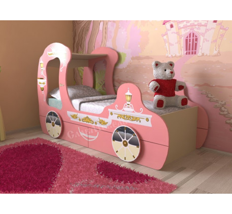 Детская кровать-карета для девочки