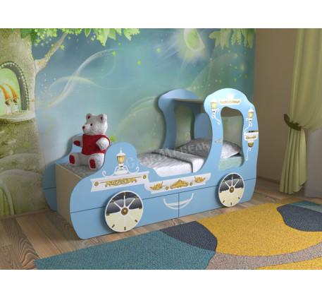 Детская кровать для девочки в виде кареты