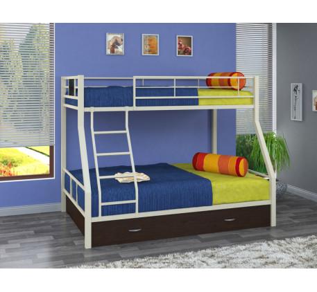 Двухъярусная кровать Гранада-1 Я с ящиком на колёсах. Верхнее спальное место 190х90 см, нижнее 190х1..