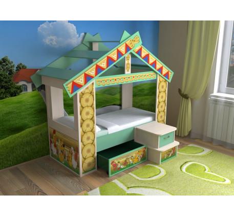 Кровать-дом Славмебель, спальное место детской кровати-домика 160х70 см