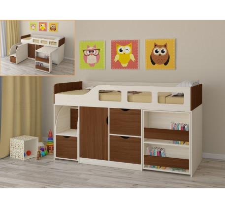 Кровать-чердак для детей от 3 лет Астра-8, спальное место 190х80 см