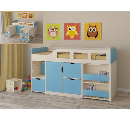 Детская кровать-чердак для мальчика Астра-8, спальное место 190х80 см