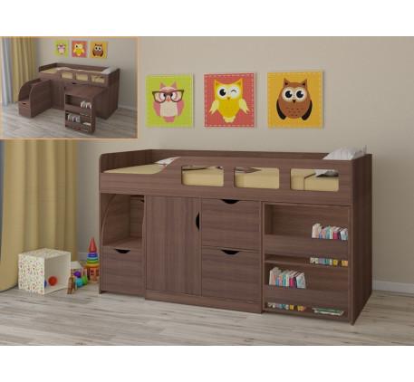 Детская кровать со столом и шкафом Астра-8, спальное место 190х80 см
