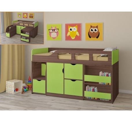 Детская кровать от 2 лет со столом Астра-8, спальное место 190х80 см
