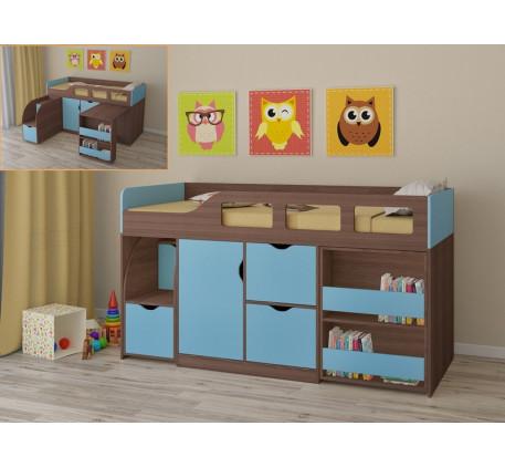 Кровать-чердак для мальчика Астра-8 с рабочей зоной, спальное место 190х80 см