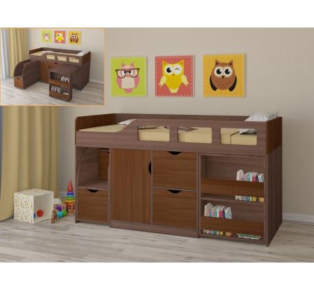 Кровать-чердак для детской комнаты Астра-8, спальное место 190х80 см