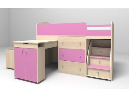 Кровать-чердак Малыш, спальное место 160х70 см