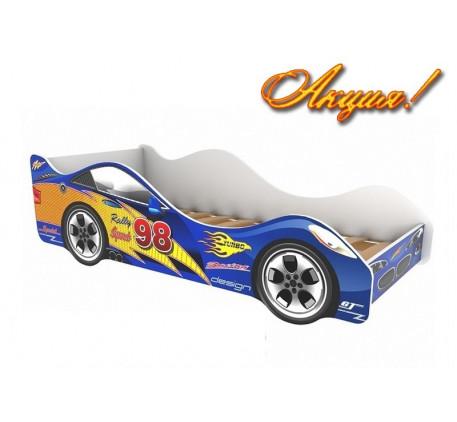 Детская кровать в форме машины Турбо (Turbo), спальное место кровати 1600*700 мм.
