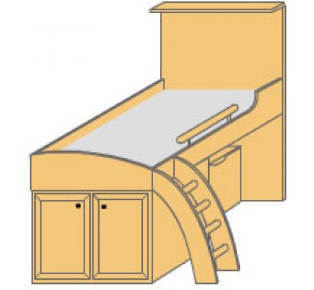 Кровать-мансарда левая