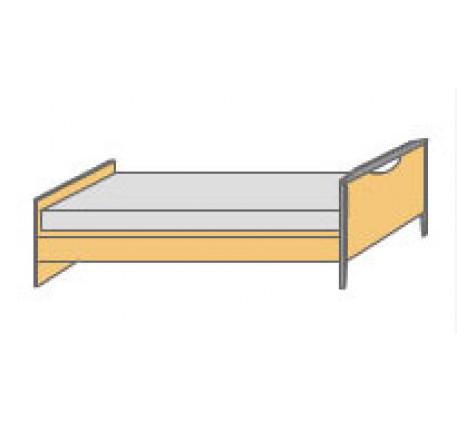Кровать Nido с одной спинкой (ортопедическое основание заказывается отдельно).
