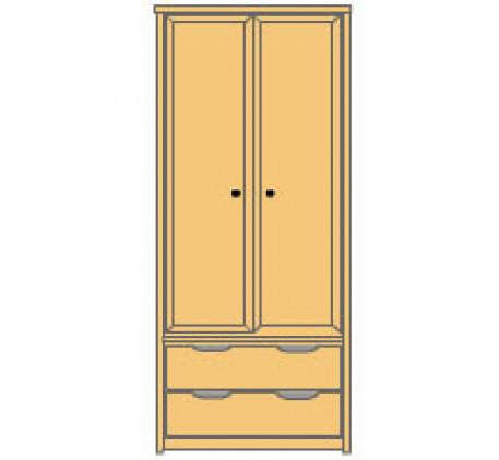 Шкаф 2 дверный с ящиками