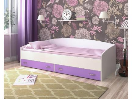 Кровать с выкатными ящиками, спальное место 200х90 см