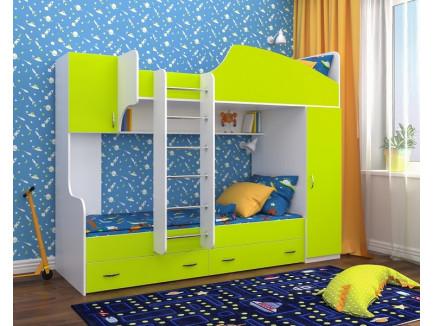 Кровать Юниор-2 двухъярусная (правая), спальные места детской кровати 190х80 см