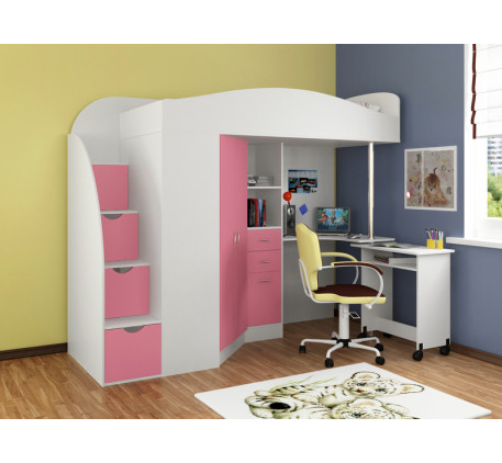 Кровать-чердак для подростка Теремок-1 Гранд, спальное место 190х80 см