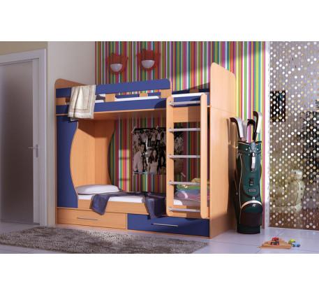 Двухъярусная кровать Карлсон (Дуэт 1), спальные места кровати 1900*800 мм. (арт. 14.711)