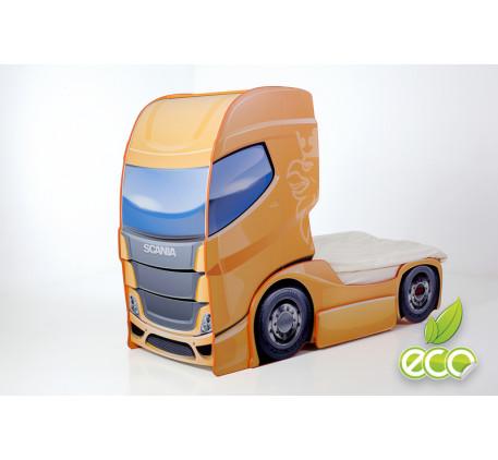 Кроватка-грузовик Скания-1 (Мебелев), спальное место детской кровати 180х90 см