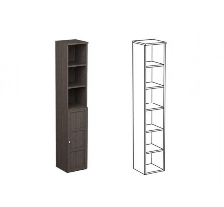 Шкаф одинарный НО1 + фасад НФ15Д
