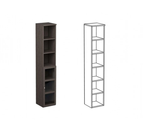 Шкаф одинарный НО1 + фасад НФ15П