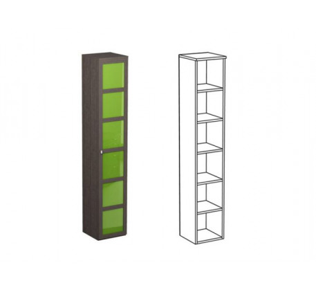 Шкаф одинарный НО1 + фасад НФ16Ц