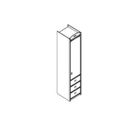 Колонка для одежды с 3-мя ящиками (правая)