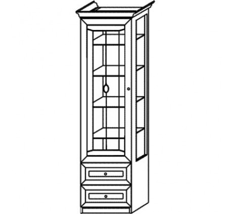 Шкаф 2975 для посуды 1 дверный