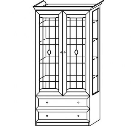 Шкаф 2771 для посуды 2 дверный