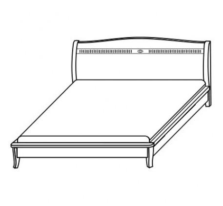 Кровать 2596, спальное место 140х200 см