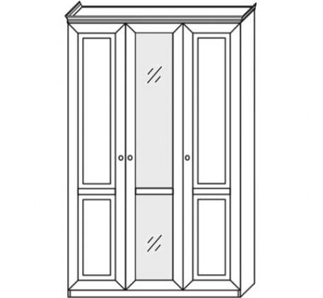Шкаф 2549 (3 двери) с зеркалом