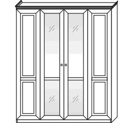 Шкаф 2554 (4 двери) с зеркалами