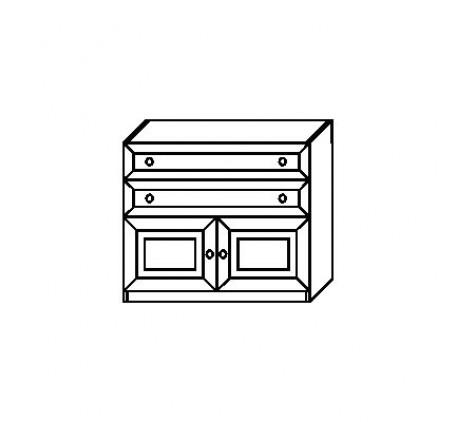 Тумба 2934 с 2 дверьми и 2 ящиками (нижняя)