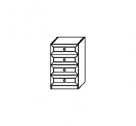 Тумба 2910 с 4 ящиками (нижняя)