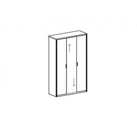 Шкаф 3-х дверный. Стандартное наполнение: Полка с штангой, комлект полок (5 шт.)