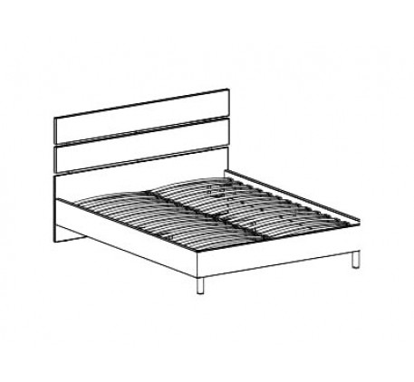 Кровать с основанием 1400 (без матраса)