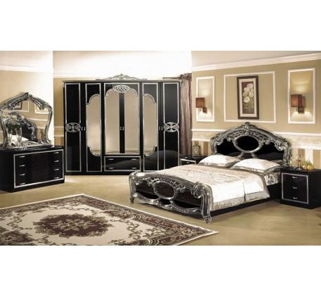 Спальня Ольга (на фото): Кровать, Тумба прикроватная (2 шт.), Комод с зеркалом, Шкаф 6 дверный. Допо..