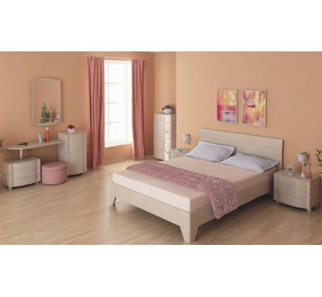 Спальня Дольче Нотте. Композиция №3. Состав спальни: СТ-104, КМ-103, ТБ-108, КР-110, ТБ-108