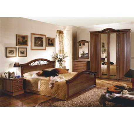 Спальня Мальта. Композиция №1: Кровать 2783, Тумба 2782 (2 шт), Комод 2781, Зеркало 2784, Шкаф 2780