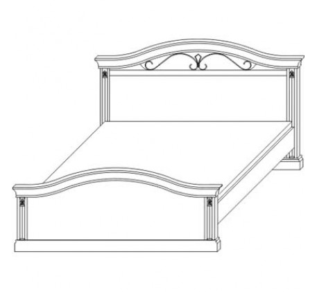 Кровать 2783, спальное место 160х200 см