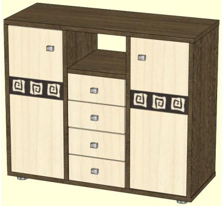 Комод Афина двухдверный с 4 ящиками