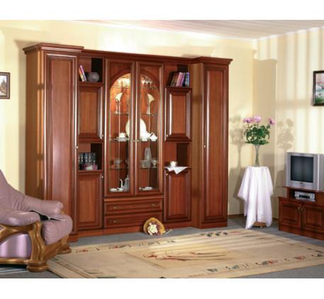 Мебельная стенка Екатерина-31 (натуральный шпон). Комплектация стенки: СП-02 (2 шт.)+СП-09 (2 шт.)+С..