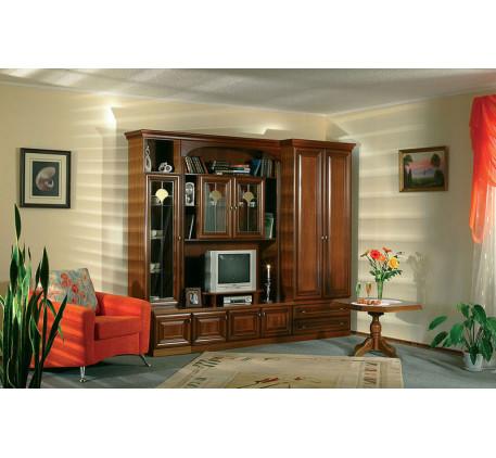 Мебельная стенка Екатерина-33 (натуральный шпон). Комплектация стенки: СС-19пос+ТНГ-09, СС-21+ТНГ-06..
